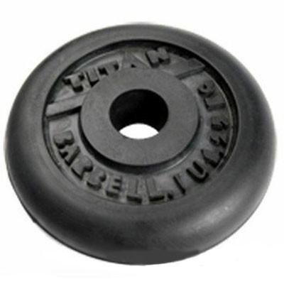 Блин обрезиненный TITAN Barbell 1,25 кг (d26)